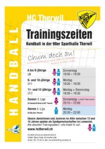 Trainingszeiten HC Therwil